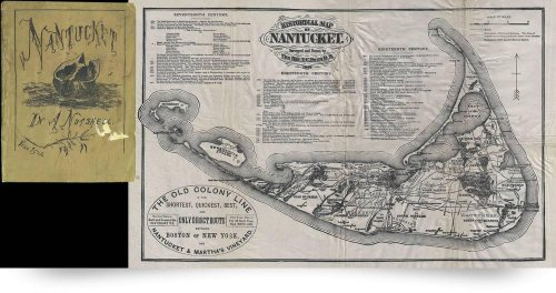 Vintage Map Of Nantucket Island (1889) (Giclee Art Print), Alleycatshirts @Zazzle front-1033570