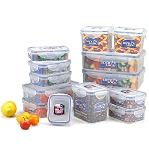 Lock&Lock BPA Free Airtight Container, 26-Piece Set / 13-Containers