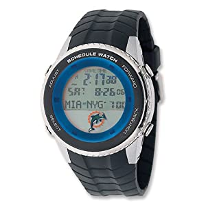 Mens NFL Miami Dolphins Schedule Watch by Jewelry Adviser Nfl Watches