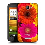 Head Case Designs Orange and Pink Gerberas Flowers Protective Snap-on Hard Back Case Cover for HTC One X