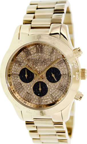 Michael Kors Layton Glitz Gold-Tone Crystal Dial Ladies Watch Mk5830