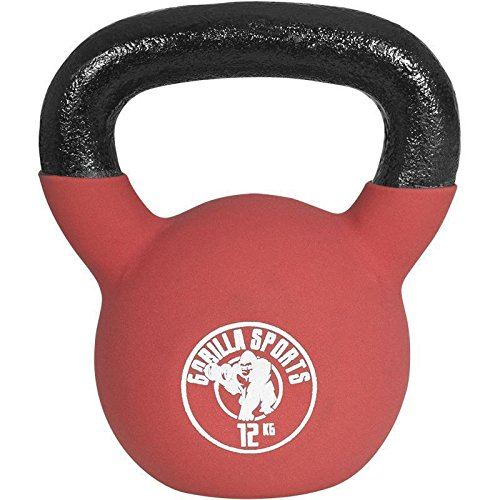 Crossfit Kettlebell Gorilla Sports Red Rubber kaufen bei amazon