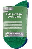 Mountain Warehouse Outdoor Kids Socks - 3 Pack Soft Plain Sports Gym Hiking Running Children Socks