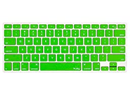 Kuzy - GREEN Keyboard Silicone Cover Skin for MacBook Pro 13\