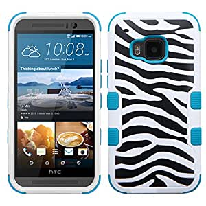 MyBat Carrying Case for HTC One M9 - Retail Packaging - Zebra Skin/Tropical Teal