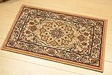 ウィルトン織 ペルシャデザイン 玄関マット ゴールド 約 50X80 屋内 室内 ウール ウィルトン マット ウィルトン織り アミール5080go