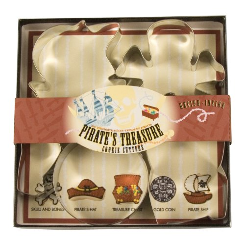 Fox Run Pirates Treasure Cookie Cutter Set