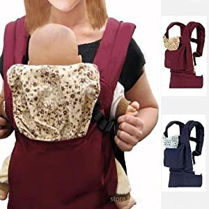 BBCL296 New Red Front Back Baby Safety Carrier Infant Comfort Backpack Sling Wrap Harness