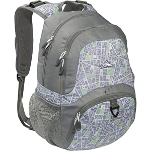 High Sierra Benson Backpack, Ash/City Map