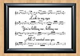 30 Seconds To Mars 'The Kill' Song Sheet Lyrical Art Print A4