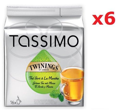 Tassimo Twinings Green Tea & Mint 6 packs x 16 T Discs
