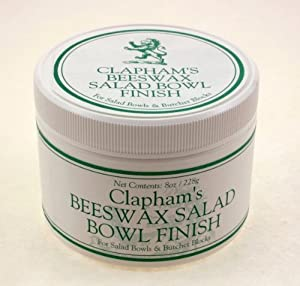 Clapham's Beeswax 870-3008 Salad Bowl Finish, 8-Ounces by Clapham's Beeswax