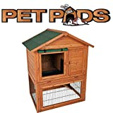 The Cambridge.  A two storey hutch and run suitable for either two dwarf rabbits or two guinea pigs.by The Pet Pads