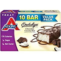 Atkins Endulge Treats Chocolate Coconut Bar 10-Count (1.4oz Bar Each)