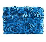 Ubesta Fashion recién nacido 3d fotografía Photo Props rosas fondo manta rug-dark Azul