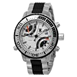 Tx T3c408 World Time Multifunctional Bracelet Watch With Black Accents