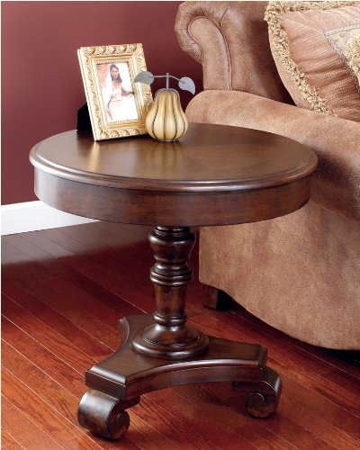 Cheap Old World Dark Rustic End table (T496-6)