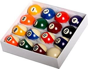 empire usa mini pool ball set 1 5 inch billiard balls sports outdoors. Black Bedroom Furniture Sets. Home Design Ideas