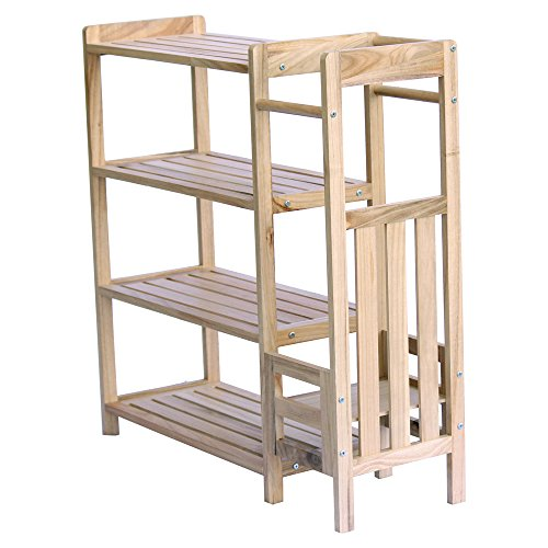 "Ikee Design Wooden 2 in 1 Shoe and Umbrella Rack 31 1/2""W x 10 1/4""D x 31 3/4""H"