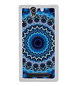 ifasho Animated Pattern design colorful flower in royal style Back Case Cover for Sony Xperia C3