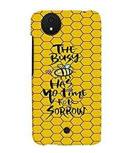 PRINTVISA Quotes Life Case Cover for Micromax Canvas Android A1