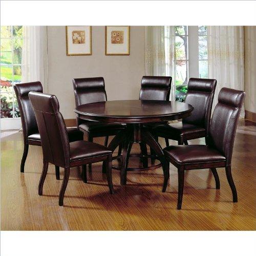 hillsdale nottingham round 7 piece dining set dark