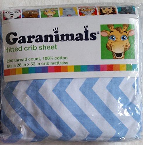 Garanimals Blue Chevron Fitted Crib Sheet