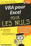 echange, troc John Walkenbach, Jean-Pierre Cano - VBA pour Excel pour les nuls
