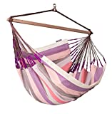 LA SIESTA - Colombian Weatherproof Hammock Chair Lounger DOMINGO plum