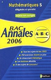 Mathématiques S obligatoire et spécialité : Annales Bac sujets non corrigés