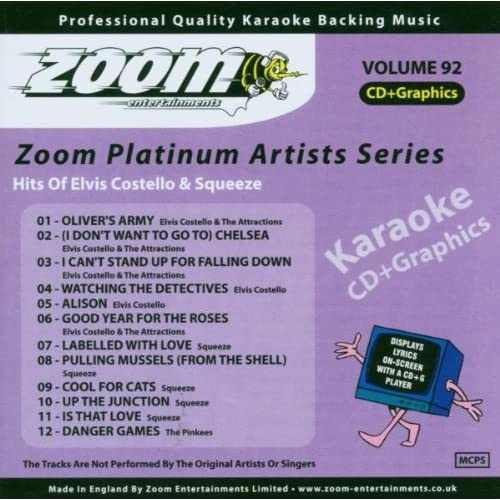 Zoom-Karaoke-CD-G-Platinum-Artists-92-Elvis-Costello-Squeeze-Zoom-Karaoke-A