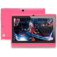 JYJ 7 Inch Android Google Tablet PC 4.2.2 8GB 512MB DDR3 A23 Dual Core Camera Capacitive Screen 1.5GHz 3G WIFI Pink