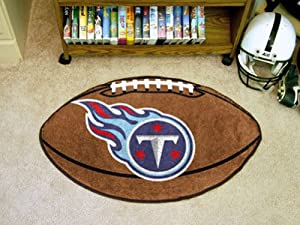 Football Floor Mat - Tennessee Titans by Hall of Fame Memorabilia