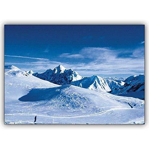 1 Foto Karte: Verschicken Sie mit dieser Klappkarte eiskalte Wintergrüße aus den Bergen