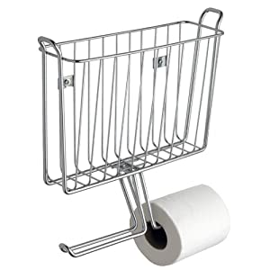 InterDesign Classico Wallmount Magazine and Tissue Holder, Chrome