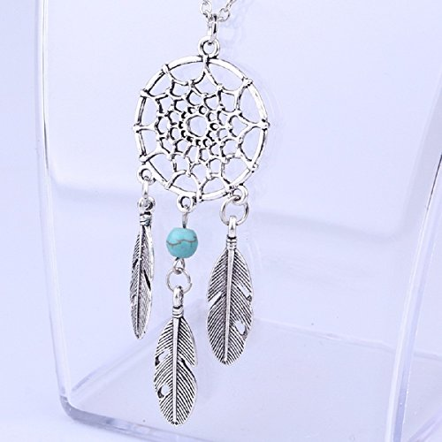 Ularmo 2015 New Hot Women Girl Retro Vintage Dream Catcher Pendant Chain Necklace Jewelry (D)