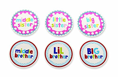 Mud Pie Milestone Stickers, Sibling - 1