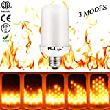 BetLight Flame Bulb- E26 Standard Base LED Flame Effect Light Bulbs,Fire Flickering Bulb for Valentines Day/ Outdoor Garden/ Hotel/ Bars/ Home Decoration (3 Modes Flame Fire Up)