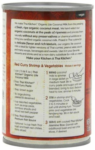 Thai Kitchen Organic Lite Coconut Milk Oz Pack Of 6 Food Beverages Tobacco Beverages