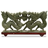 Jade Double Dragon Sculpture