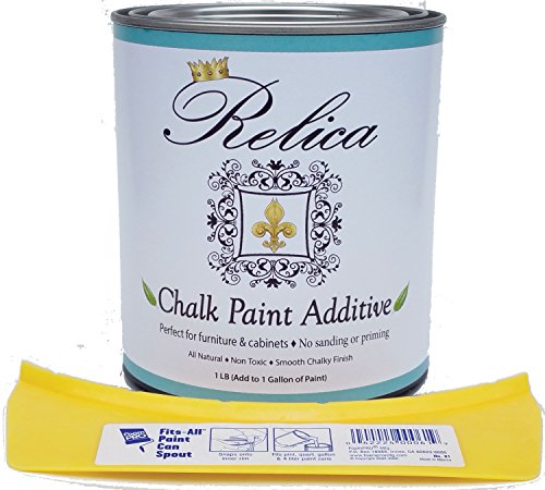 Chalk Paint Mix by Relica With Quart Can and pouring spout for Mixing - 1 lb to mix with 1 Gallon of the paint of your choice. - Non Toxic - Chalk Paint Additive Kit (Empty Paint Cans Quart compare prices)