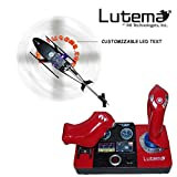 Lutema 2.4GHz Heligram Flight Simulator Remote Control Helicopter with LED SkyText Technology, Red