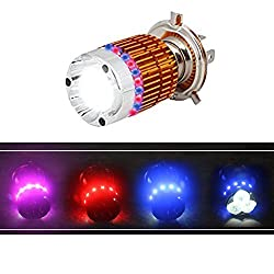 EASY4BUY H4 Flasher Ring High-Low Beam Motorcycle/Scooty Headlgiht Led Bulb for Hero Splendor