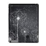 Apple The new iPad (3rd generation, ipad 3) Skin Sticker Art Decal - Black White Dandelion Design