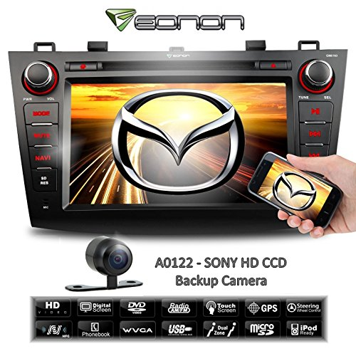 Eonon Gm5163 *Screen Mirroring* (2010-12) Mazda3 + Sony Hd Backup Camera - Large 8 Inch Touch Screen Dvd / Gps Nav. (Map Not Included) & Bluetooth front-387532