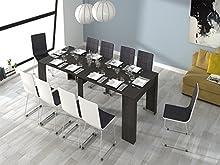 Comprar Habitdesign (004580G) - Mesa de comedor consola extensible a 237 cm, Color ceniza, dimensiones cerrada 0,90 ancho x 0,78 altura x 0,51 profundidad