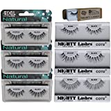 6 Pairs Combo Bundle Of Ardell Professional WISPIES (3 Pair) + Mighty Lashes By COTU (R) DW (1 Pair), WSP (1 Pair...