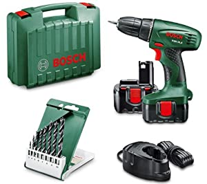 bosch psr 14 4 cordless drill driver 2 nicd batteries 1. Black Bedroom Furniture Sets. Home Design Ideas