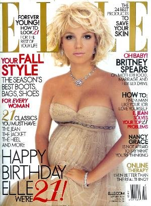 Elle Magazine - October 2005: Pregnant Britney Spears Layout! Britney Spears