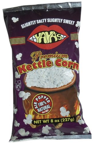 Yaya's Premium Kettle Corn, 8-Ounce Bags (Pack of 12)